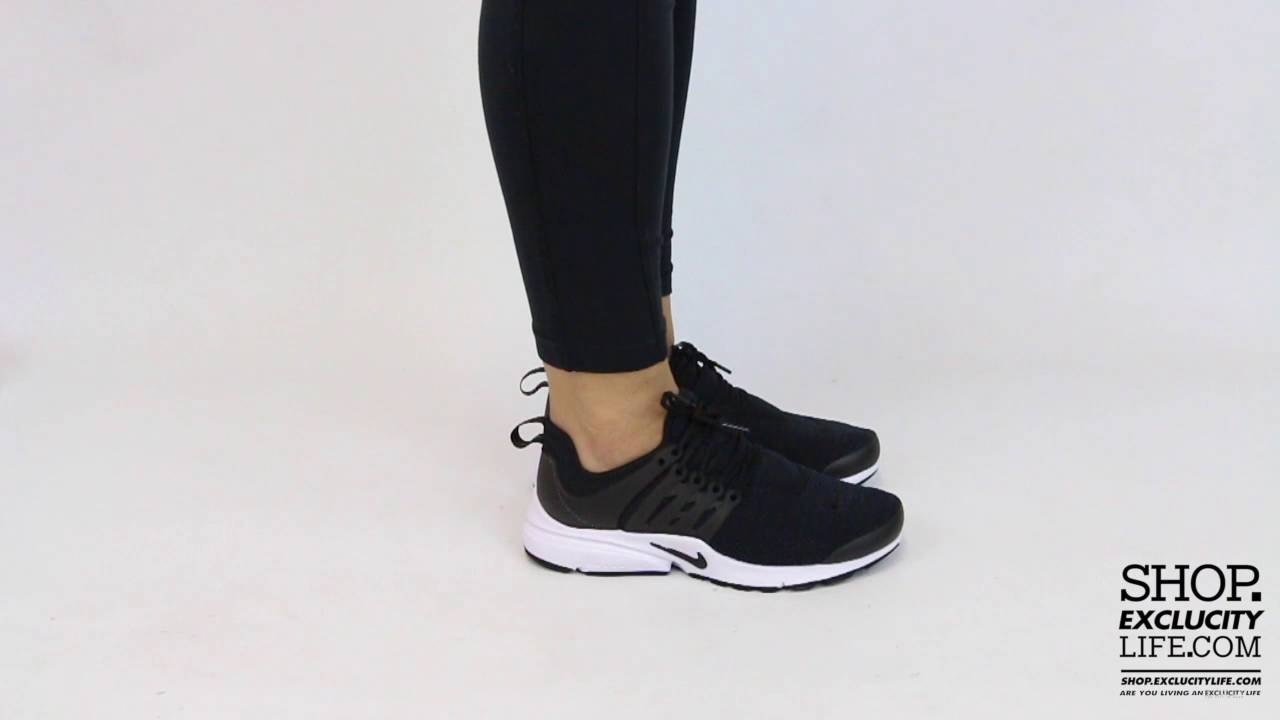 hot sale online 93fef a4b43 Women's Nike Presto Black White On feet Video at Exclucity