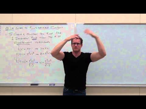 Calculus 3 Lecture 13.1:  Intro to Multivariable Functions (Domain, Sketching, Level Curves)