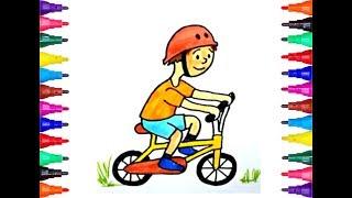 How to Draw a Boy riding a bike