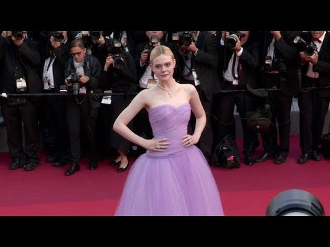 Actress Elle Fanning stuns on the red carpet for the Premiere of The Beguiled in Cannes