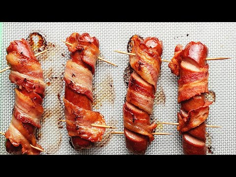 Bacon Wrapped Hot Dogs Aka Danger Dogs