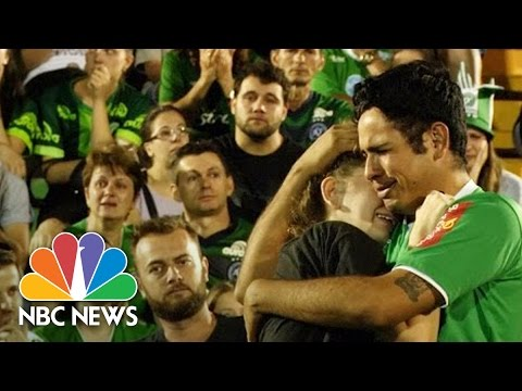 Chapecoense Fans Mourn At Brazil Soccer Team's Stadium Following Plane Crash | NBC News