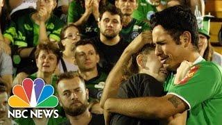 Chapecoense Fans Mourn At Brazil Soccer Team's Stadium Following Plane Crash   NBC News