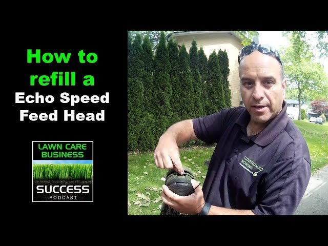 How to refill a echo speed feed line trimmer head