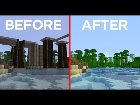 Minecraft Building w/ BdoubleO :: Removing a 5 Year Old Structure! 426