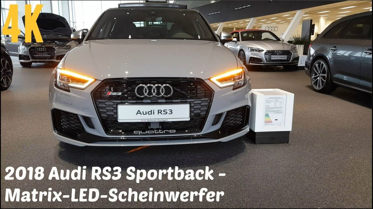 2018 audi rs3 matrix led scheinwerfer dynamischer. Black Bedroom Furniture Sets. Home Design Ideas