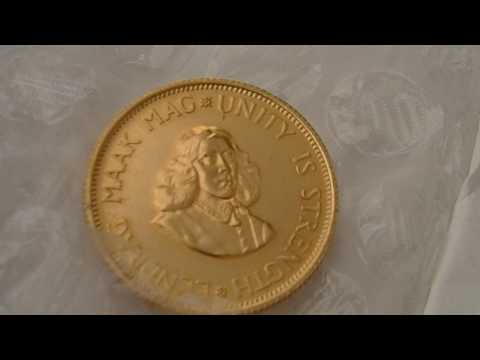 2 Rand Gold coin 1964. South Africa