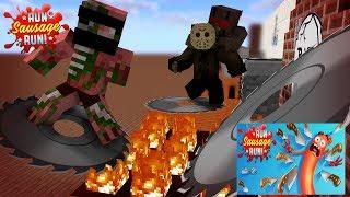 Monster School: Run Sausage Run Challenge - Minecraft Animation