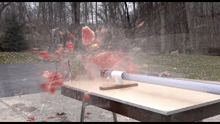 Supersonic ping pong balls...vacuum and compression cannon combination. PART TWO