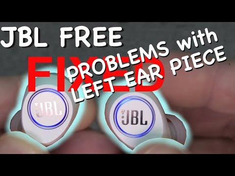 FIXING JBL FREE - Left ear piece not working (how to)
