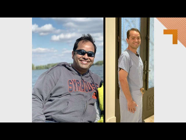 Dr. Nikhil Panda loses 80lbs with Charles D'Angelo
