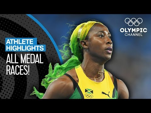 All Shelly-Ann Fraser-Pryce's Olympic Medal Races | Athlete Highlights