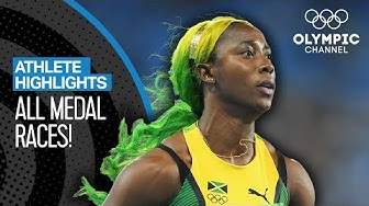 All Shelly-Ann Fraser-Pryce's 🇯🇲 Olympic Medal Races | Athlete Highlights
