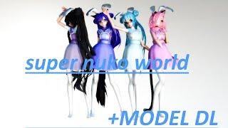 MMDxAphmau Model Collab W Nyan Super Nuko World Easter Model Pack Model Pack DL