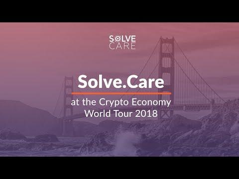 Solve.Care pitch. Pradeep Goel, CEO at the Crypto Economy World Tour, San Francisco, January 2018