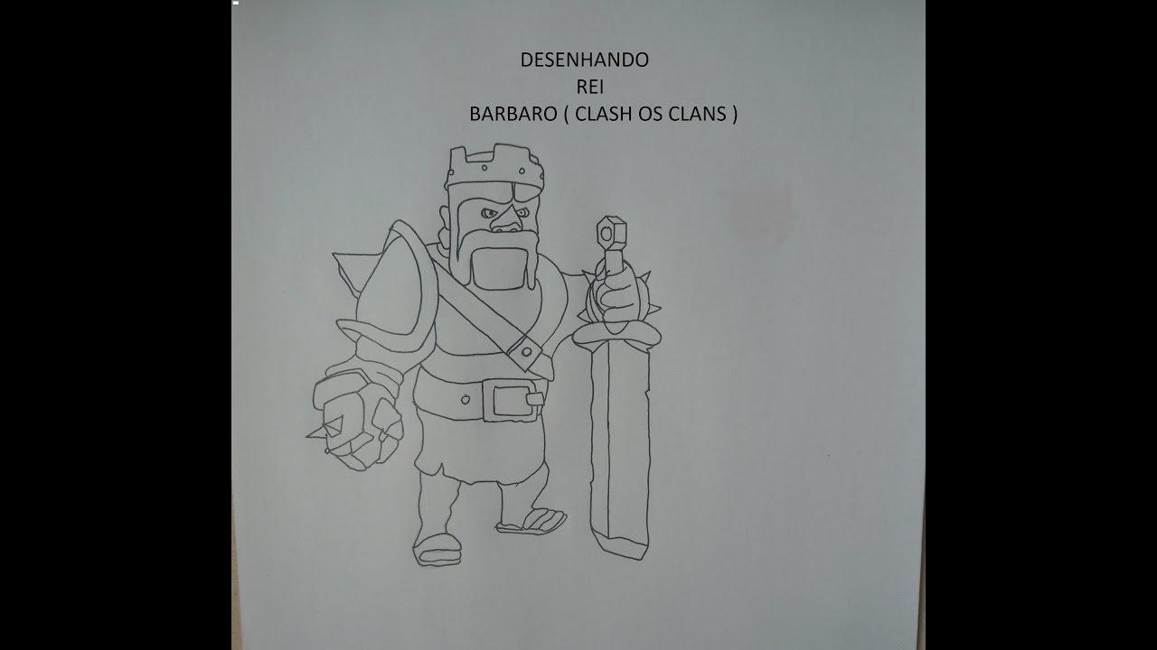 desenhando rei barbaro de clash of clans youtube