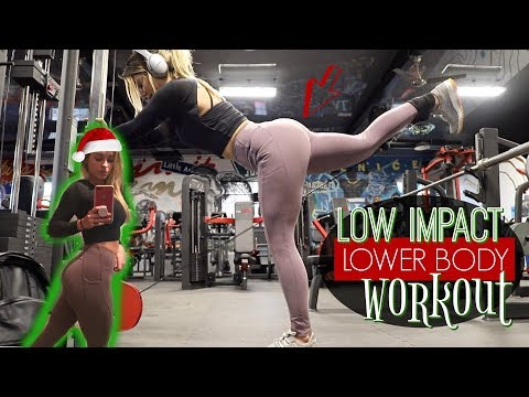 Low-Impact (No Knee) Lower Body Workout! + Hardest Thing I've Ever Done | Vlogmas Day 14