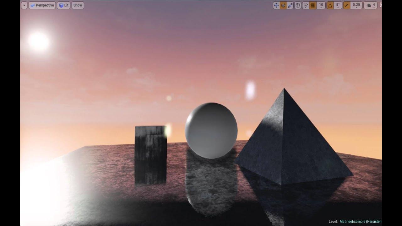 UE4 Tutorial: Adjust Sky Sphere to create Sunset and Night