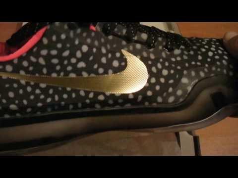 Баскетбольные кроссовки NIKE KOBE X  BLACK GOLD INFRARED магазин BASKET FAMILY