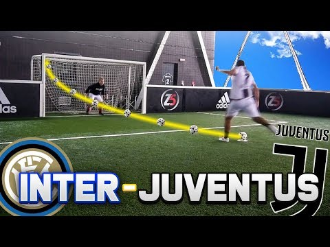 JUVENTUS vs INTER FOOTBALL CHALLENGE ⚽ - RONALDO vs ICARDI | w/Ohm & Enry Lazza