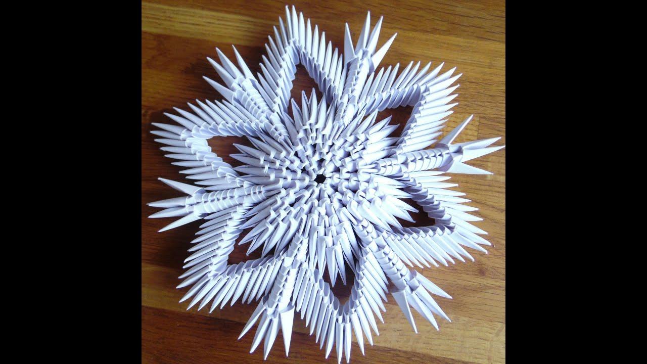 3d origami sneeuwvlok nr 2 youtube 3d origami sneeuwvlok nr 2 jeuxipadfo Images