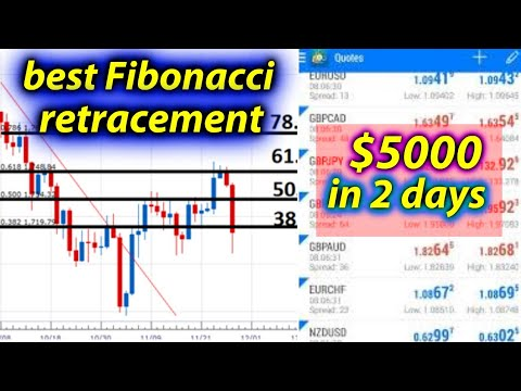 How to use Fibonacci retracements / forex trading strategies/ trading for beginners