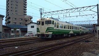 2020.01.28 男鹿線普通列車秋田行き(1122D)秋田駅到着