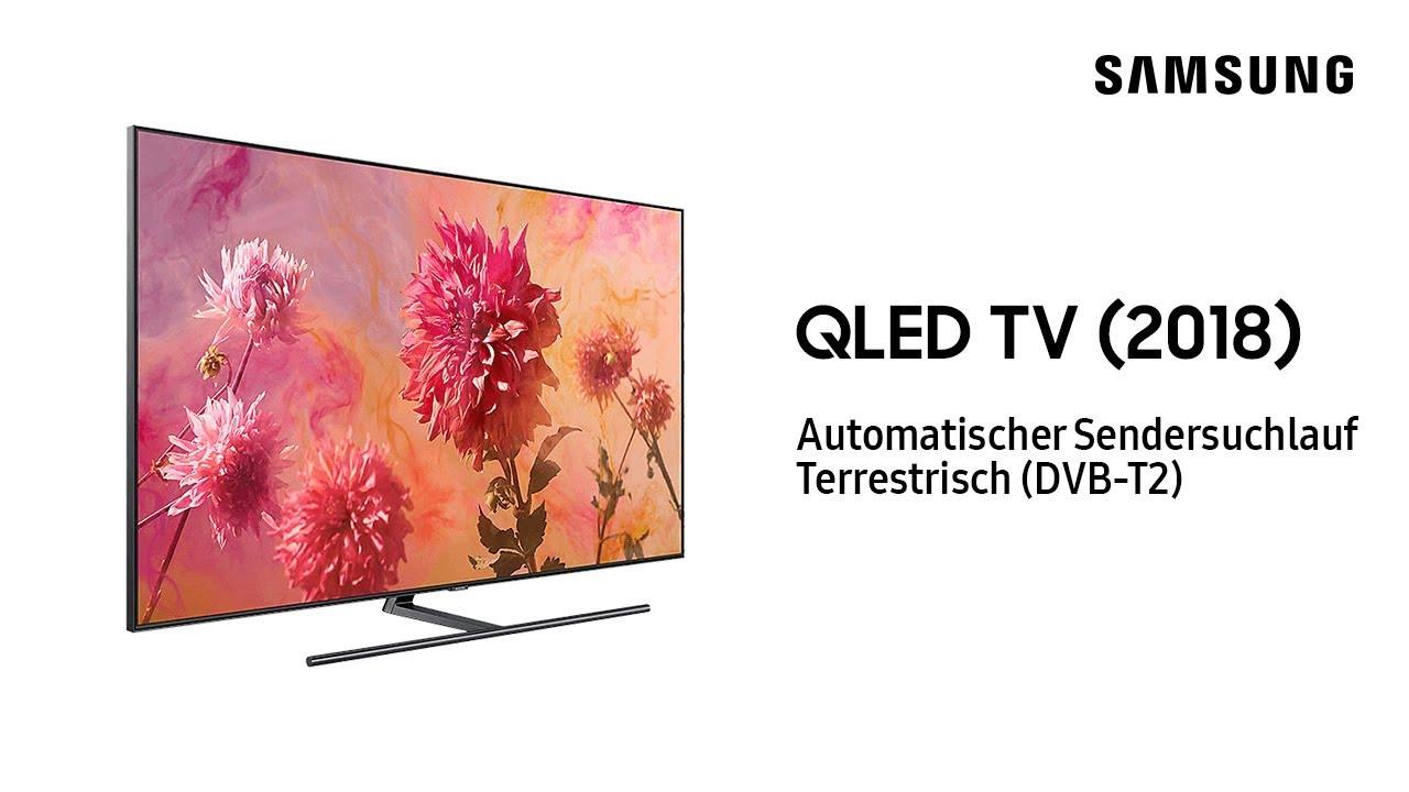 Samsung QLED TV 2018 Automatischer Sendersuchlauf Terrestrisch DVB T2