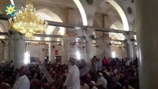 بالفيديو: تكبيرات صلاة العيد من داخل المسجد الاقصي