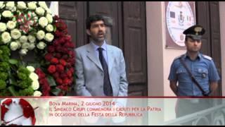 Festa della Repubblica, commemorazione dei caduti a Bova Marina - TG Area Grecanica