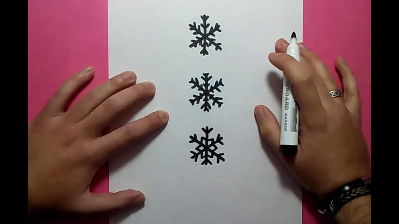 Como Dibujar Copos De Nieve Paso A Paso How To Draw Snowflakes