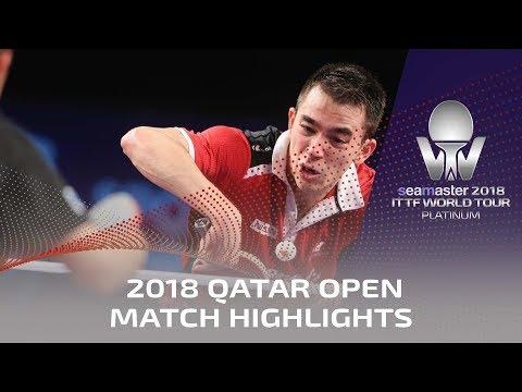 2018 Qatar Open Highlights I Tomokazu Harimoto vs Hugo Calderano (1/4)