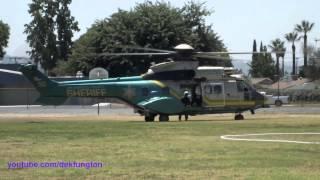 LA County Sheriff Super Puma Start and Takeoff N950SG