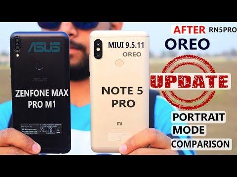 Redmi Note 5 Pro vs Asus Zenfone Max Pro  -  After MIUI 9.5 Camera#Portrait Comparison  Front Camera