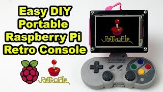 Build A Handheld RetroPie Gaming Console No Solder SUPER EASY!