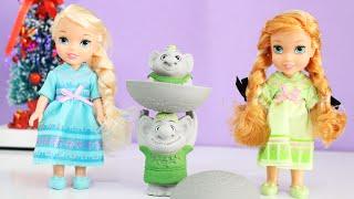 Disney Frozen Bonecas Anna Elsa Petite Surprise Trolls Gift Set Princess Review