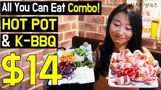 All You Can Eat Korean HOTPOT & Korean BBQ Combo Seoul South Korea