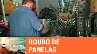 Criminosos roubam panelas de grupo voluntário - SBT Rio Grande - 14/02/19