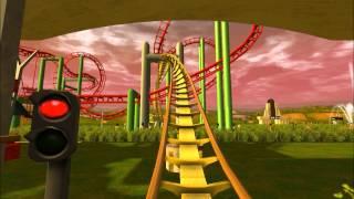 RCT3 Backwards Slingshot Coaster - Spongebob Squarepants