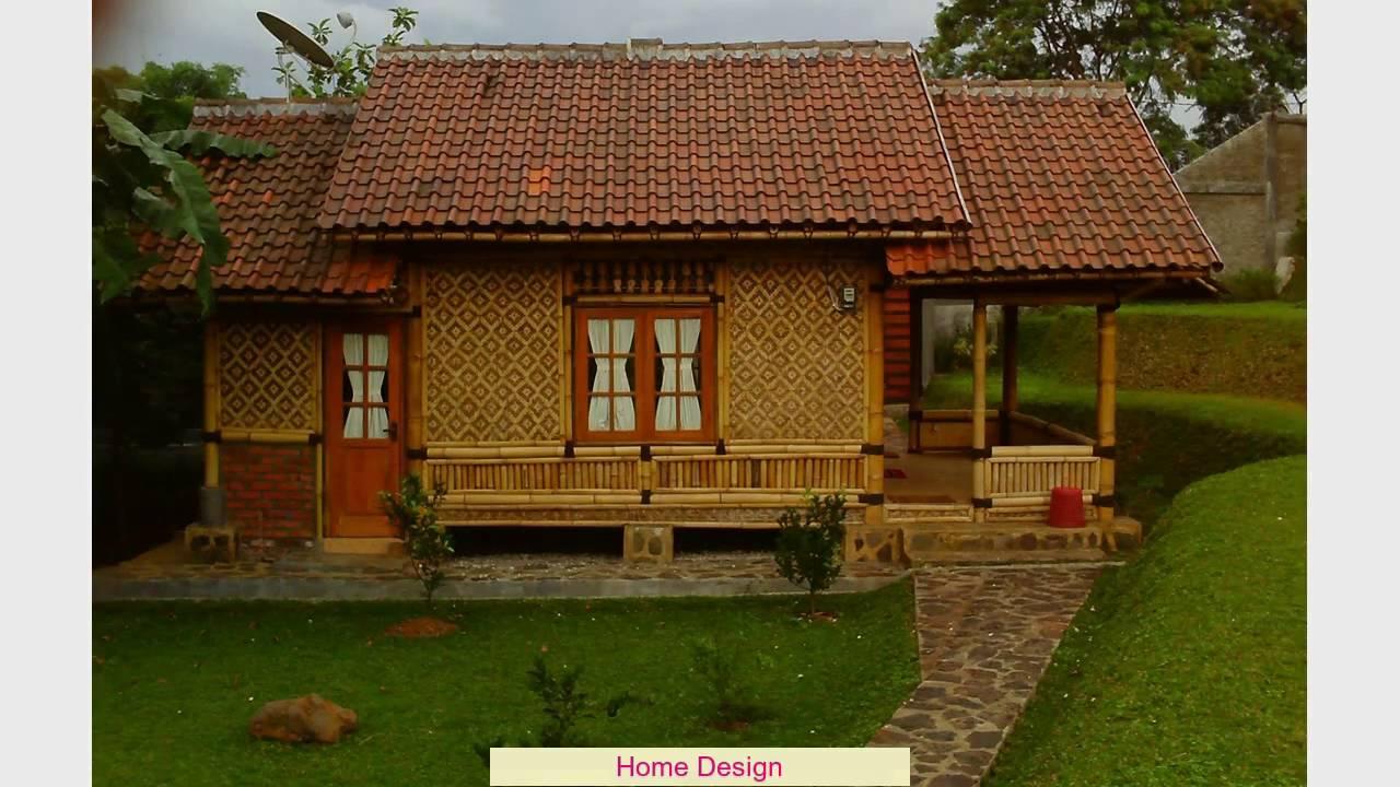 Desain Rumah Bambu Youtube