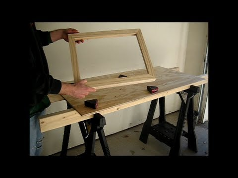 How To Make A Simple Picture Frame Part 1 Construction Youtube