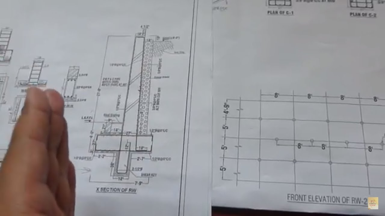 How To Read Retaining Wall Construction Drawing At Site