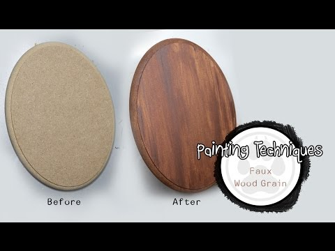 Painting Techniques - How to Paint Faux Wood grain