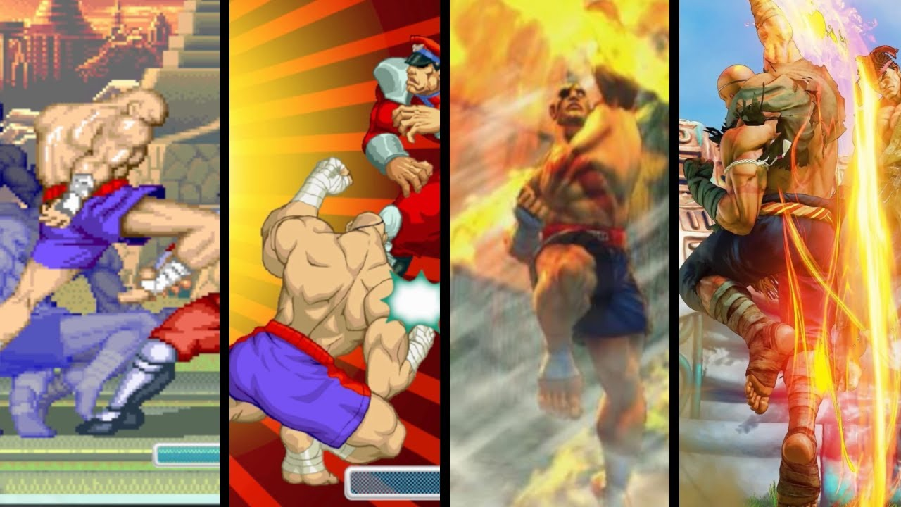 Evolution of Sagat Super Moves (1994 - 2020)