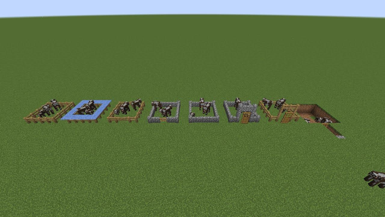 Minecraft : Simple Animal Pen Ideas