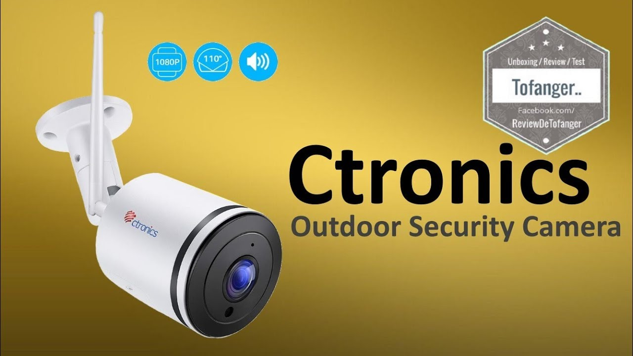 Camera Surveillance Exterieur Fnac Ctronics Security Outdoor Camera Wifi 1080p Outdoor Surveillance Camera Ctipc 275c1080p