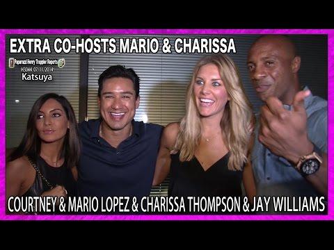 EXTRA Host Mario Lopez, Courtney Lopez, New EXTRA Co-Host Charissa Thompson and Jay Williams