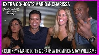 EXTRA Host Mario Lopez, Courtney Lopez, New EXTRA Co-Host Charissa Thompson and Jay Williams