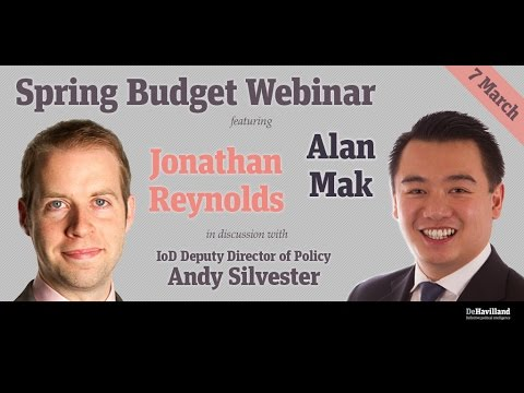 Spring Budget Webinar with Jonathan Reynolds and Alan Mak