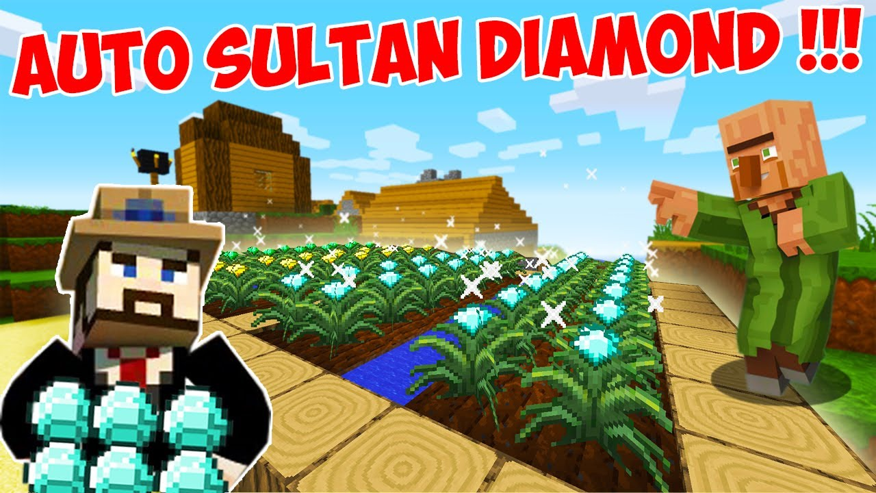 Minecraft Tapi Aku Bisa Bikin Sawah Full Diamond Ore !!! Sultan !